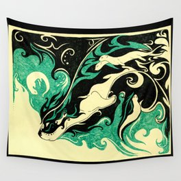 Dreaming Otter Wall Tapestry