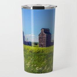 Elevators, Charbonneau, North Dakota Travel Mug