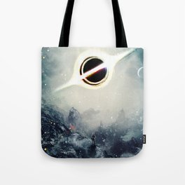 Interstellar Inspired Fictional Sci-Fi Teaser Movie Poster Tote Bag