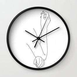 Figure line drawing illustration - Daya Wall Clock