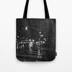 RAINY BOKEH B&W Tote Bag