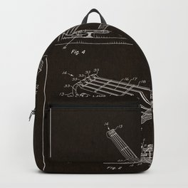 Guitar Patent - mahogany Backpack