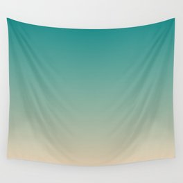 Teal and Angelskin Coral Tropical Paradise Island Hawaiian Beach Wall Tapestry