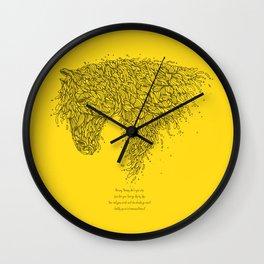 Horsey Yellow Wall Clock