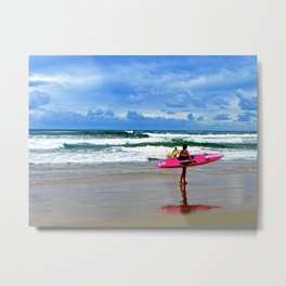 Surfing the day away. Metal Print