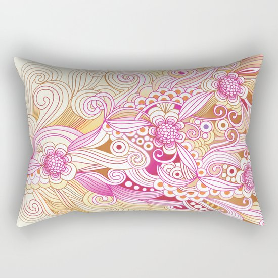 Flower fire Rectangular Pillow