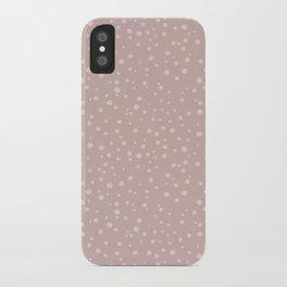 PolkaDots-Peach on Rose iPhone Case