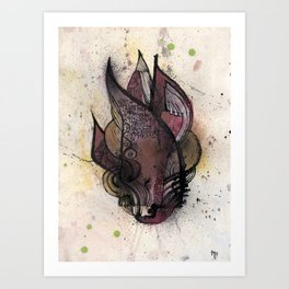 Razor cloud Art Print