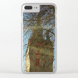 Old Tower And Leafless Branches Clear iPhone Case