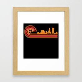 Retro Style Jacksonville Florida Skyline Framed Art Print