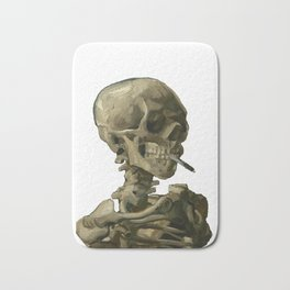 Van Gogh, Head of Skeleton Artwork Skull Reproduction, Posters, Tshirts, Prints, Bags, Men, Women, K Bath Mat
