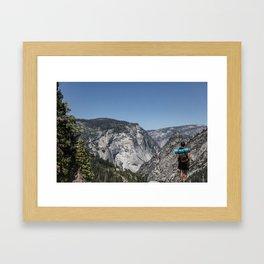 Backpacking America Travel Photo Framed Art Print