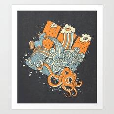 El viaje de Carlitos Art Print