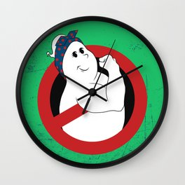 Girl Ghostbuster Logo Wall Clock