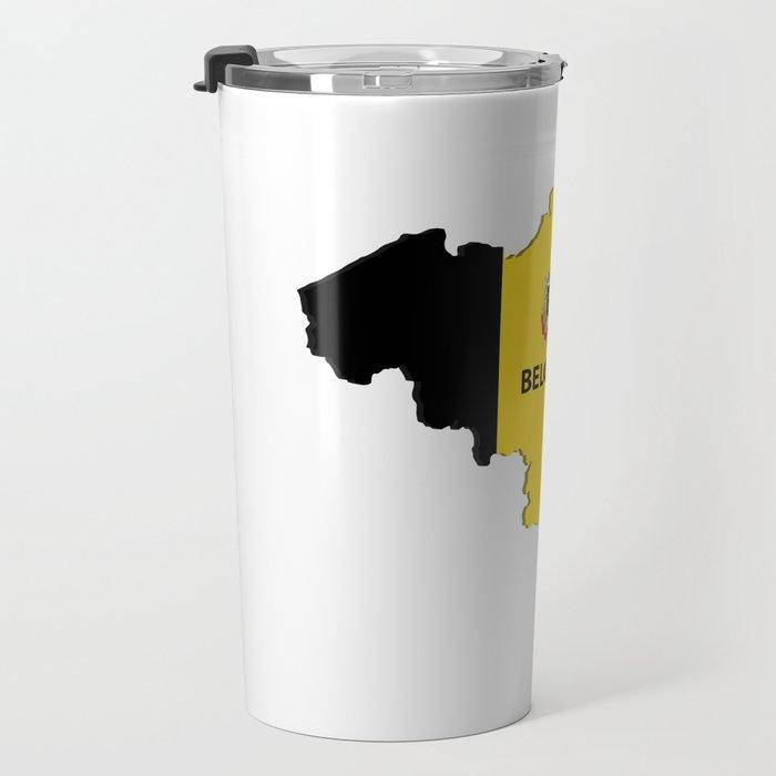 Belgium map Travel Mug