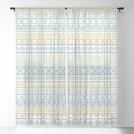 Aztec Influence Ptn Colorful Sheer Curtain