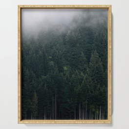 Mystic Pines - A Forest in the Fog Serving Tray