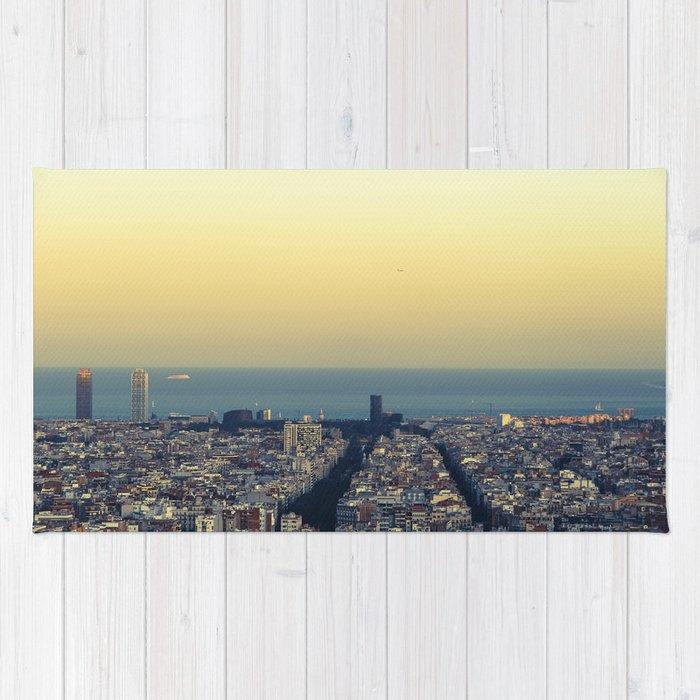 Barcelona view Rug