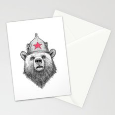 russian bear Stationery Cards