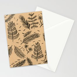 Kraft Paper Pine Stationery Cards