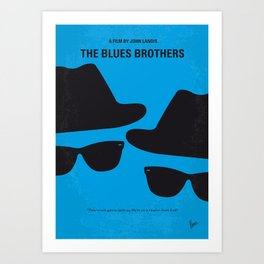 No012 My Blues brothers minimal movie poster Art Print