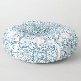Spring Garden Mandala Floor Pillow