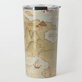 Map of Neverland Travel Mug