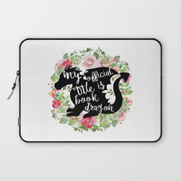 Official Title Book Dragon Laptop Sleeve