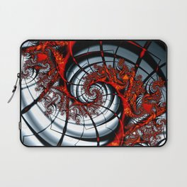 Fractal Art - Burning Web Laptop Sleeve