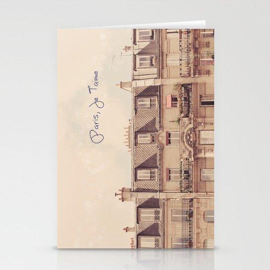 Paris Je T'aime Stationery Cards