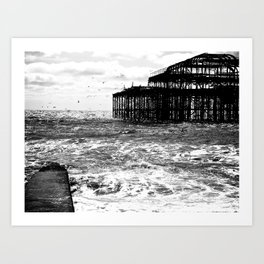 Brighton Ghosts  Art Print