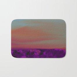 """Twilight Meadow"" (Peach/Violet) Digital Painting // Fine Art Print Bath Mat"