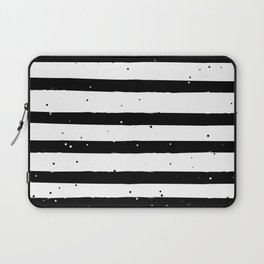 Black and White Stripe Laptop Sleeve