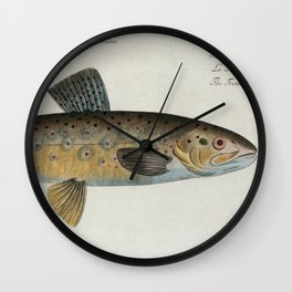 Vintage Illustration of a Brown Trout (1785) Wall Clock