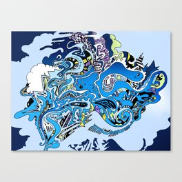 Swimming in the mind Canvas Print