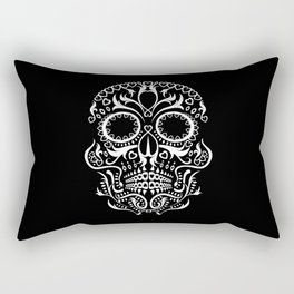 Day of the Dead Skull - Hearts Rectangular Pillow