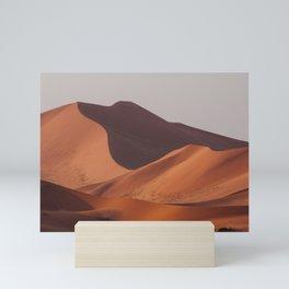 Sand dunes in the Namib desert near Sossusvlei Art Print || Namibia  Mini Art Print