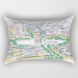 Paris France Arc de Triomphe de l'Étoile at Sunset Rectangular Pillow