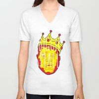 biggie smalls V-neck T-shirts featuring Biggie Smalls by Hussein Ibrahim