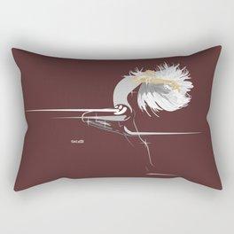 White Girl on Dark Brown Rectangular Pillow
