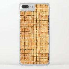 Palest Orange Plaid Clear iPhone Case