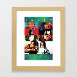 Janet Jackson Unbreakable Framed Art Print