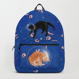 Astronaut Cats in Shrimp Heaven Backpack