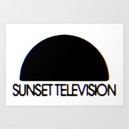 Sunset Television Logo Art Print