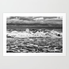 Out in the Wind Out in the Water Art Print