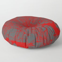Baltimore map red Floor Pillow