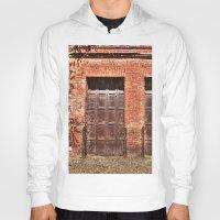 doors Hoodies featuring Barn Doors by Agrofilms
