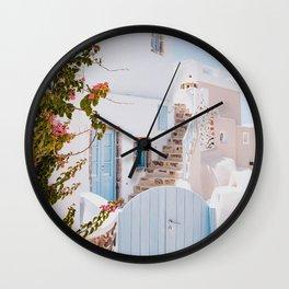 santorini iv Wall Clock