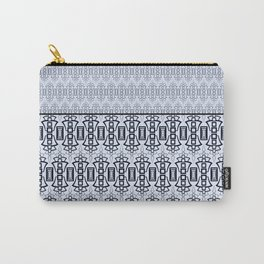 Art Deco .  Gray blue with black combo pattern . Carry-All Pouch