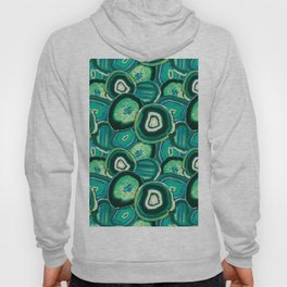 Geode Slices No.1 in Emerald + Malachite Green Hoody